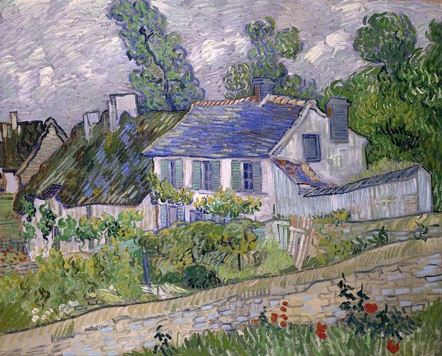 Casas, cipreses